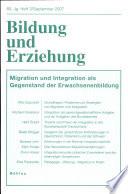 Migration und Integration als Gegenstand der Erwachsenenbildung