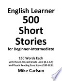 English Learner 500 Short Stories for Beginner Intermediate