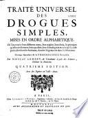 Traité universel des drogues simples... par Nicolas Lemery