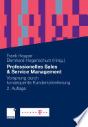 Professionelles Sales & Service Management