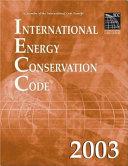 International Energy Conservation Code 2003