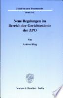 Neue Regelungen im Bereich der Gerichtsstände der ZPO