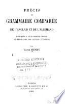 Precis de grammaire compar  e de l anglais et de l allemand