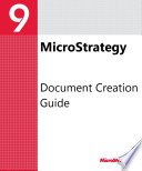 Document Creation Guide for MicroStrategy 9  3  1
