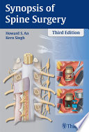 Synopsis Of Spine Surgery : on the previous edition, reflecting...