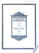 Fantasia on Hungarian folk melodies for pianoforte