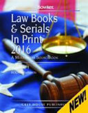 Law Books   Serials in Print   3 Volume Set  2016