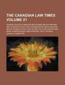The Canadian Law Times Volume 21