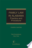 Family Law in Alabama  Practice and Procedure