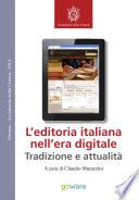 L   editoria italiana nell   era digitale   Tradizione e attualit
