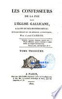 Les confesseurs de la foi dans l'Église gallicane à la fin du XVIIIe siècle