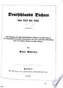 Deutschlands Dichter von 1813   1843
