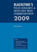 Blackstone s Police Sergeants    Inspectors  Mock Examination Paper 2009