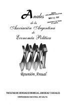 Anales de la Asociación Argentina de Economía Política, ... Reunión Anual