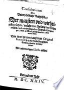 Consultationes Oder Vnderschidliche Rathschläg, Der maisten vnd wichtigsten sachen, welche von Anfang der Böhemischen, vnd andern folgenden Auffständ fürgangen, vnnd zu Werck gericht worden, oder werden sollen