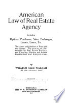 Book American Law of Real Estate Agency