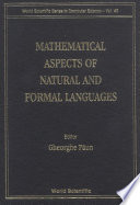 Mathematical Aspects of Natural and Formal Languages