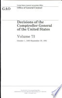 Decisions of the Comptroller General of the United States, V. 73, , October 1, 1993-September 30, 1994