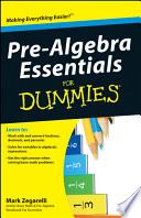 Pre Algebra Essentials For Dummies