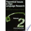 Theoretical Issues in Sign Language Research  Volume 2