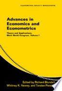 Advances in Economics and Econometrics  Volume 1