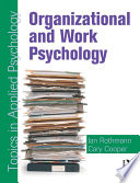 Organizational and Work Psychology  Topics in Applied Psychology