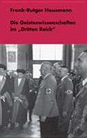 """Die Geisteswissenschaften im """"Dritten Reich"""""""
