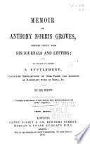 Memoir of Anthony Norris Groves Book PDF