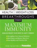 Health   Weight loss Breakthroughs 2009  Maximum immunity