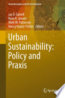 Urban Sustainability  Policy and Praxis