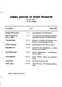 Indian Journal of Social Research