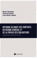 illustration du livre Réforme du droit des contrats, du régime général et de la preuve des obligations