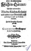 Der Frantzösische Küchen-Gärtner