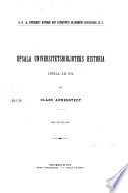 Upsala Universitetsbiblioteks historia intill ar 1702