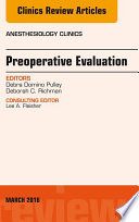 Preoperative Evaluation An Issue Of Anesthesiology Clinics