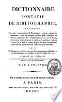 Dictionnaire portatif de bibliographie