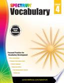 Spectrum Vocabulary  Grade 4