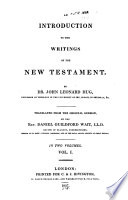 An introduction to the writings of the New Testament, tr. by D.G. Wait