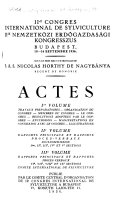 Proceedings of the ... World Forestry Congress Comtes [sic] Rendus Du ... Congrès Forestier Mondial