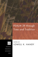download ebook psalm 29 through time and tradition pdf epub