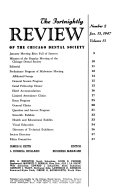 The Fortnightly Review of the Chicago Dental Society