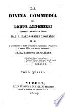 La Divina commedia di Dante Alighieri corretta  spiegata e difesa dal p  Baldassarre Lombardi M C  Si aggiungono le note de  migliori comentatori co  riscontri di famosi mss  non ancora osservati