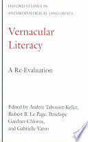 Vernacular Literacy