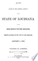Laws for the Government of the District of Louisiana Passed by the Governor and Judges of the Indiana Territory