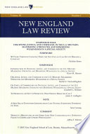 New England Law Review  Volume 50  Number 1   Fall 2015