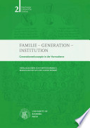 Familie, Generation, Institution