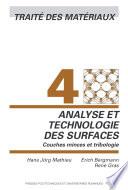 illustration Analyse et technologie des surfaces, couches minces et tribologie