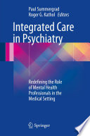 Integrated Care in Psychiatry