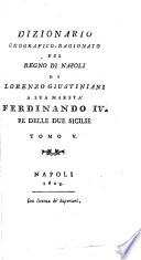 Dizionario geografico-ragionato del Regno di Napoli