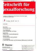 Zeitschrift f  r Sexualforschung